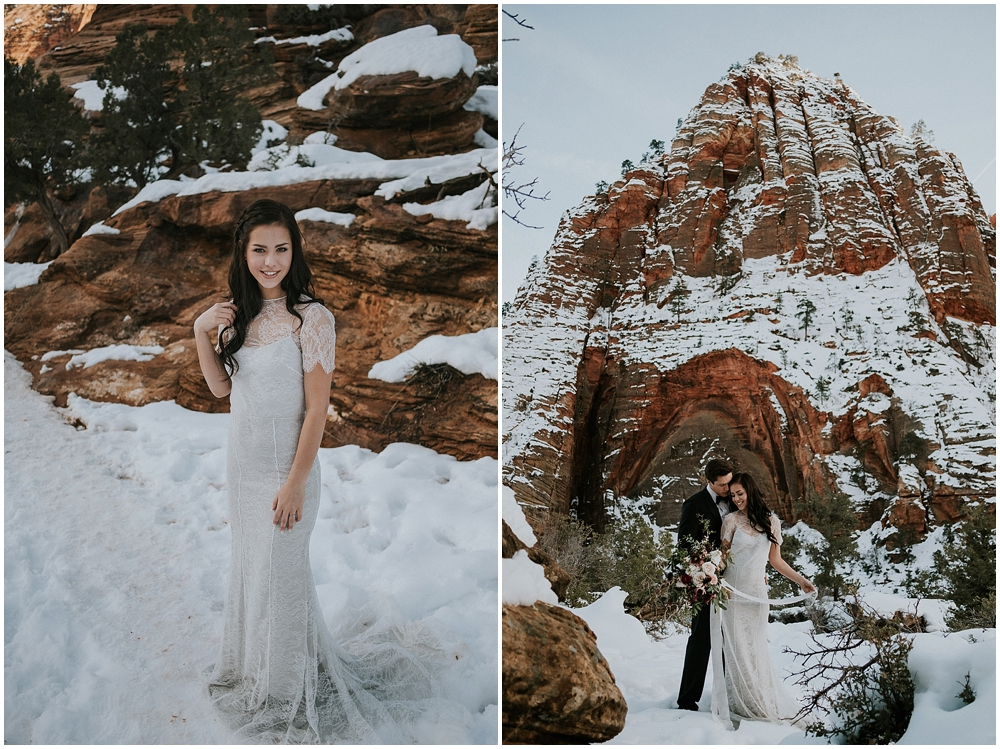 Zion Utah Wedding