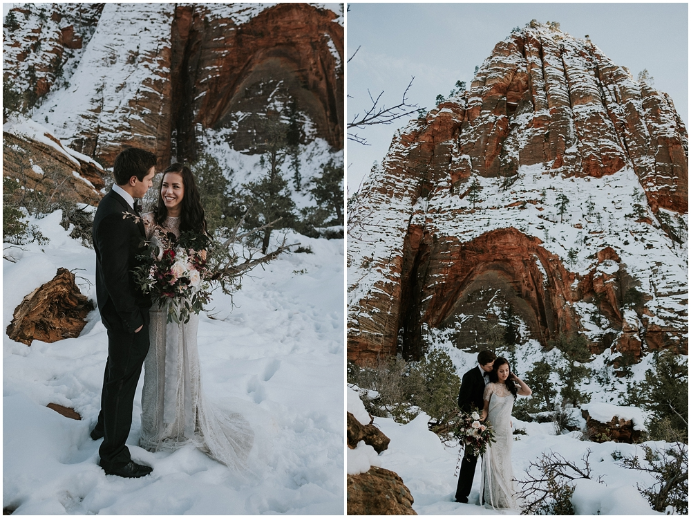 Zion National Park outdoor elopement