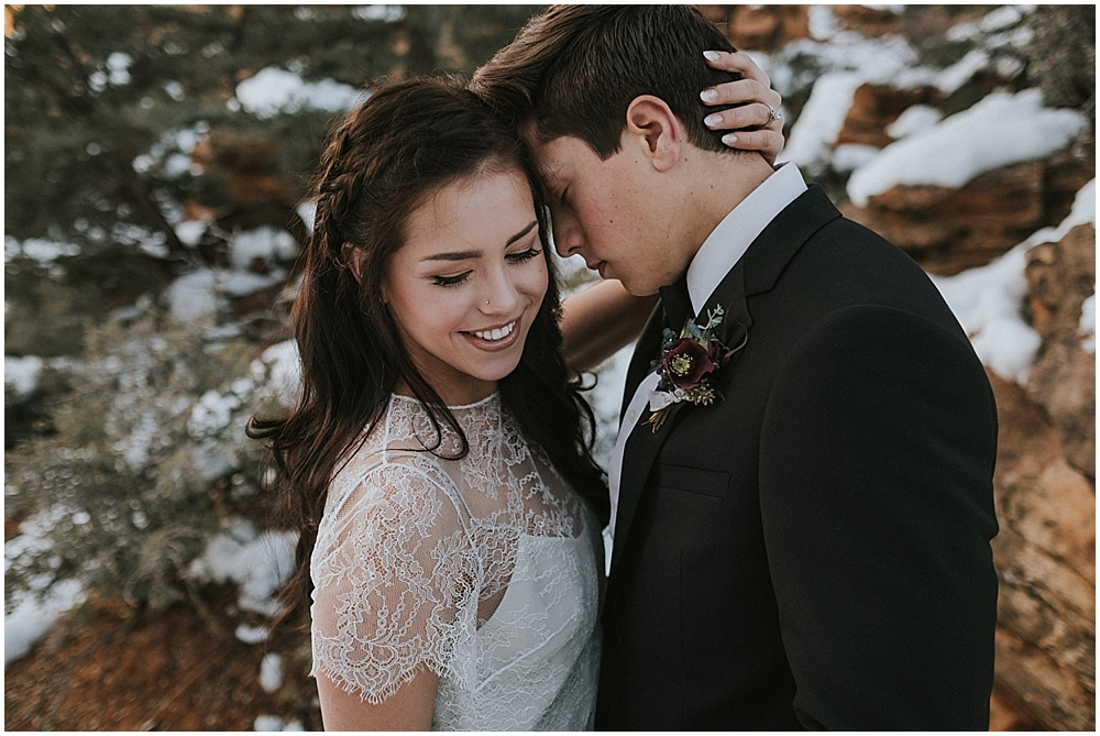 wedding in Utah national park