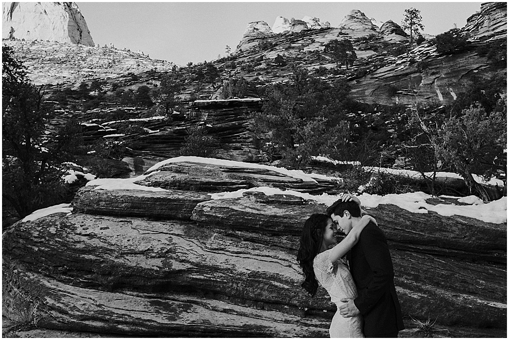 wedding at Canyon Overlook Trail