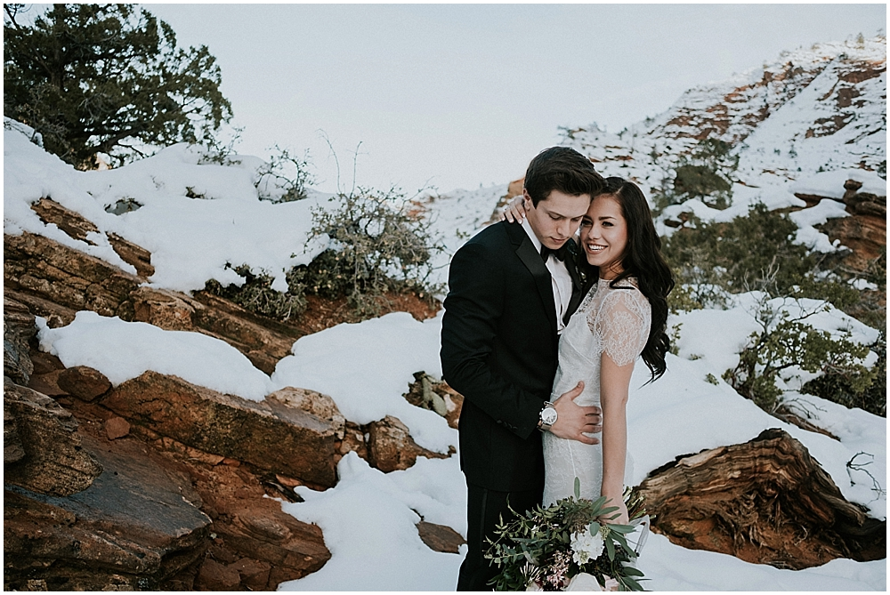 Zion National Park outdoor wedding