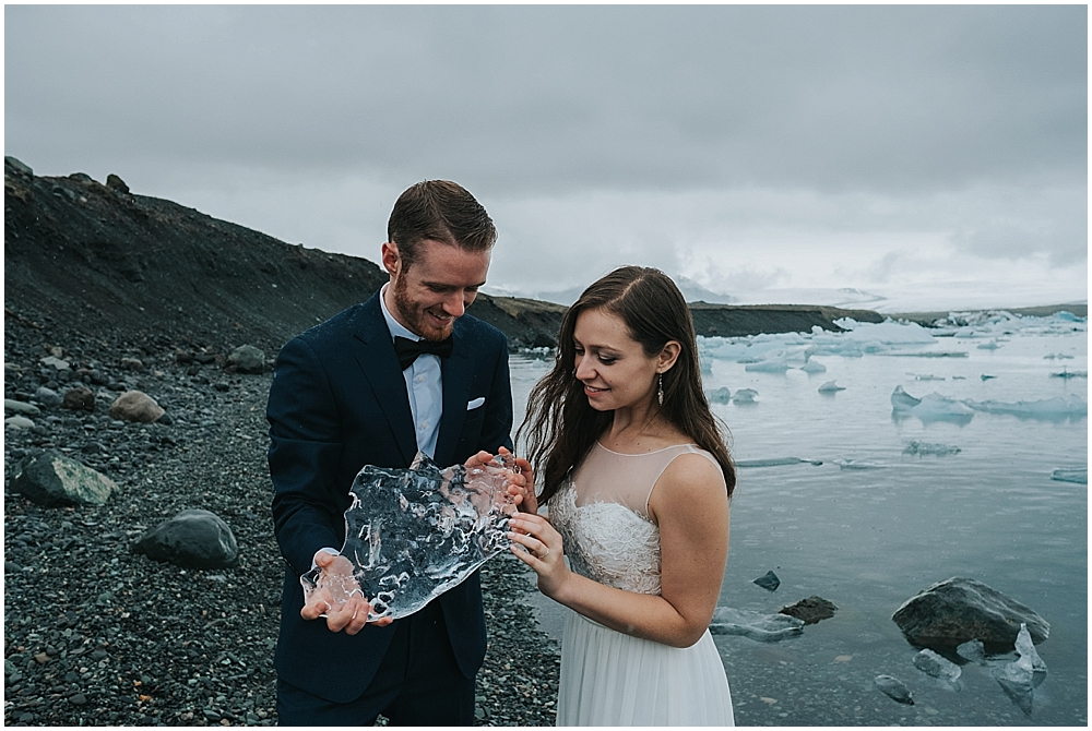Glacier lagoon elopement Iceland
