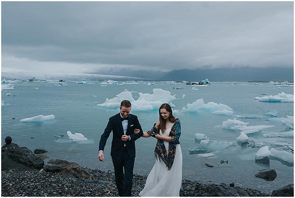 Iceland glacier lagoon elopement