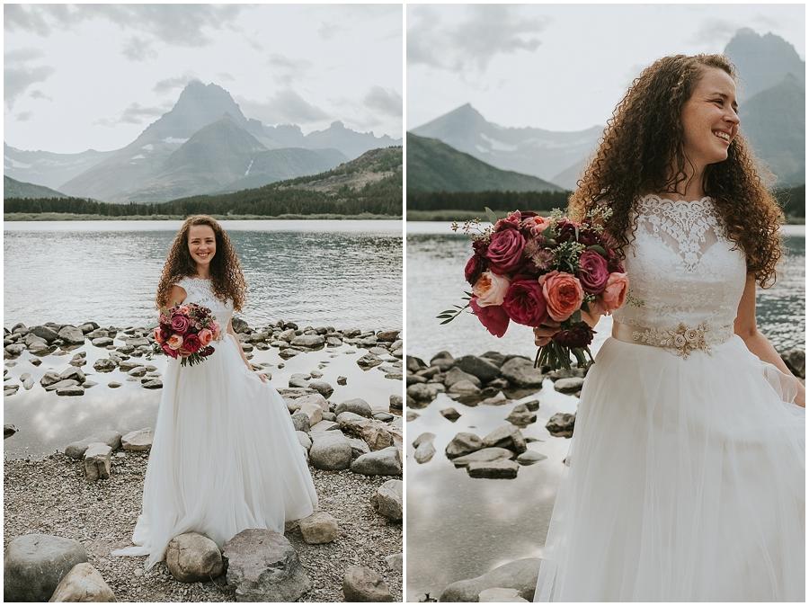 Logan Pass Montana Wedding