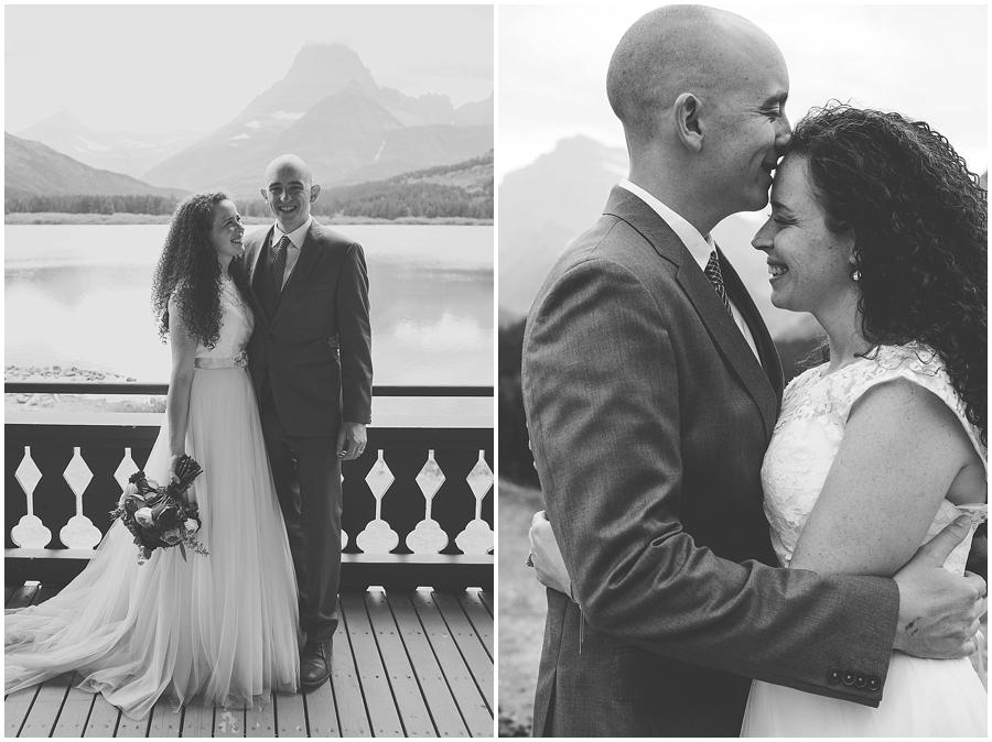 Wedding at Many Glacier Lodge