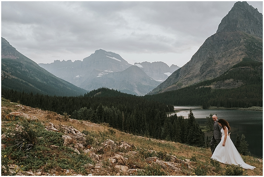 Wedding at Lake McDonald Montana