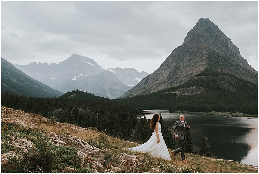 Elopement in Montana Mountains