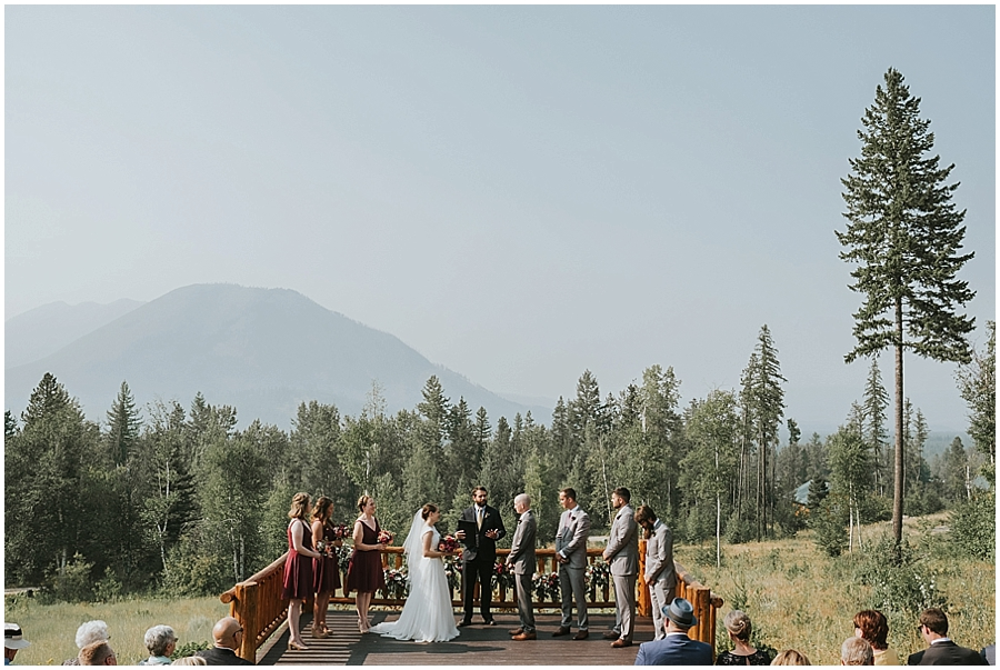 Glacier National Park outdoor wedding