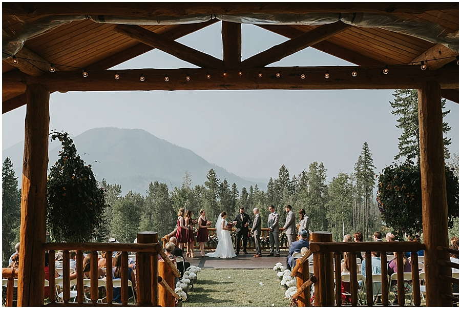 Logan Pass outdoor wedding venue