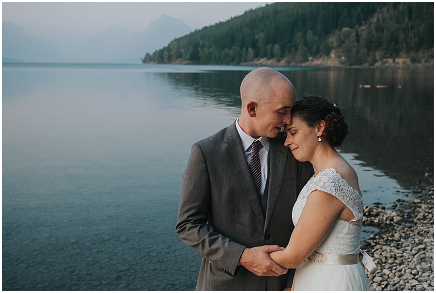 Lake McDonald elopement photographer