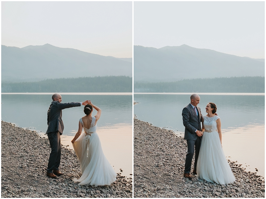 Lake McDonald Montana wedding photographer
