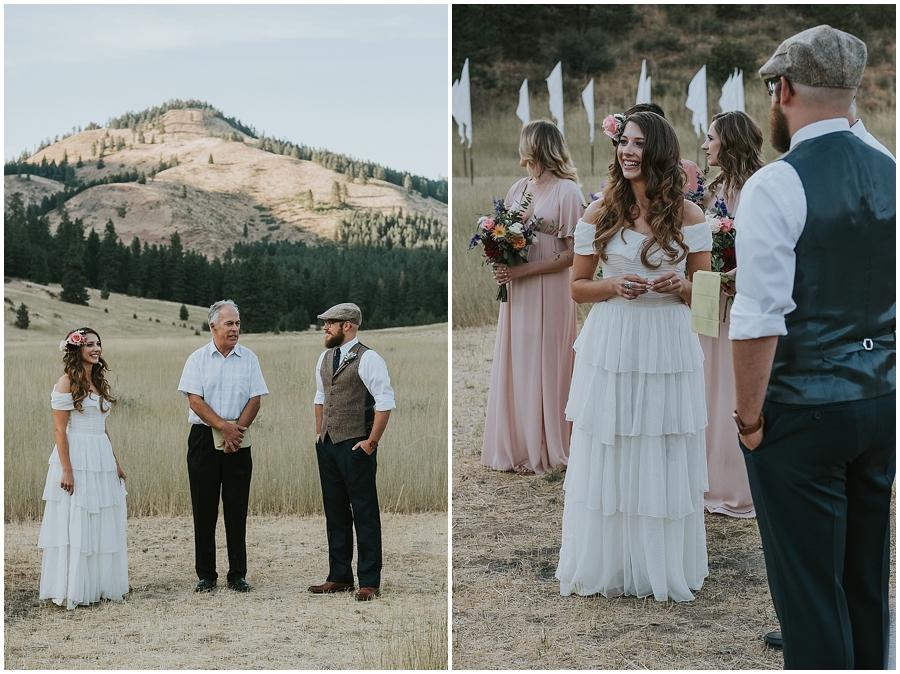 Twisp Washington outdoor wedding