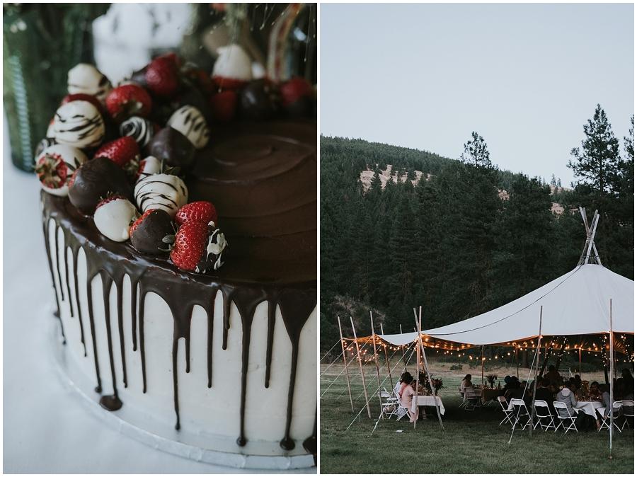 Washington tipi wedding
