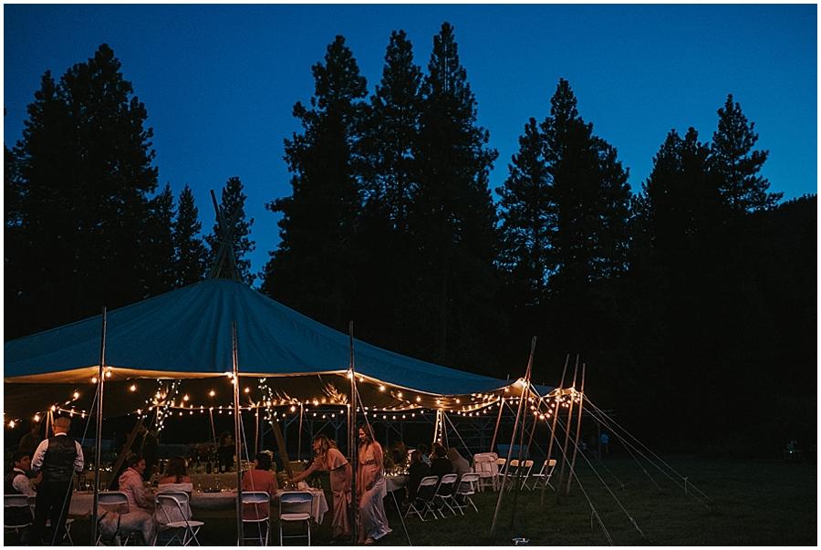 Washington teepee tipi wedding