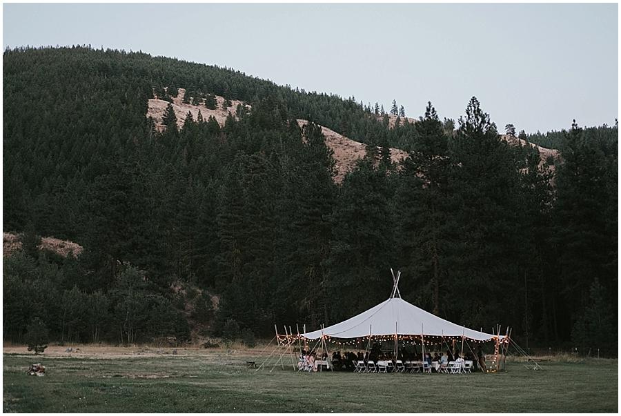 Pacific Northwest tipi wedding in Washington