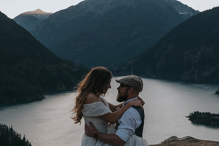 Diablo lake adventure elopement