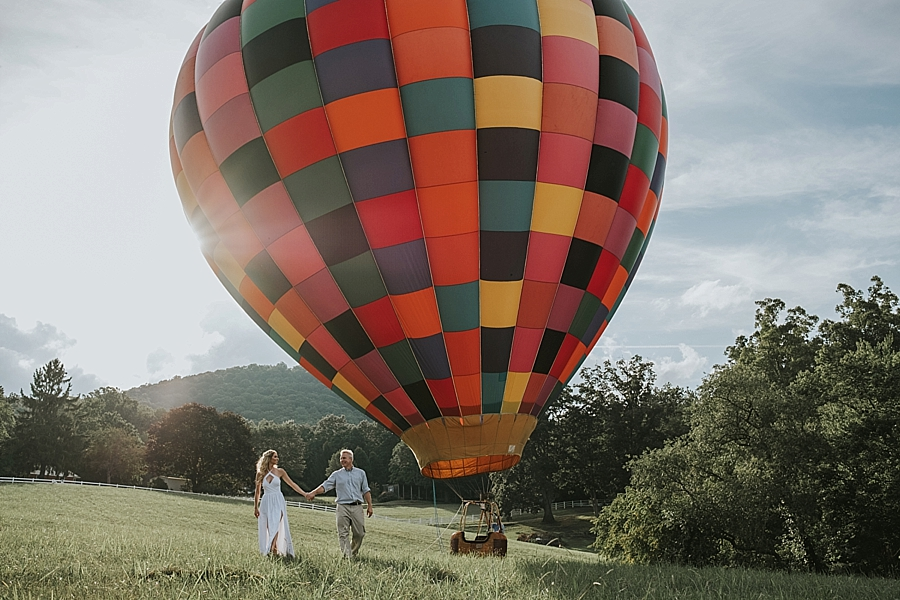 Asheville hot air balloon wedding
