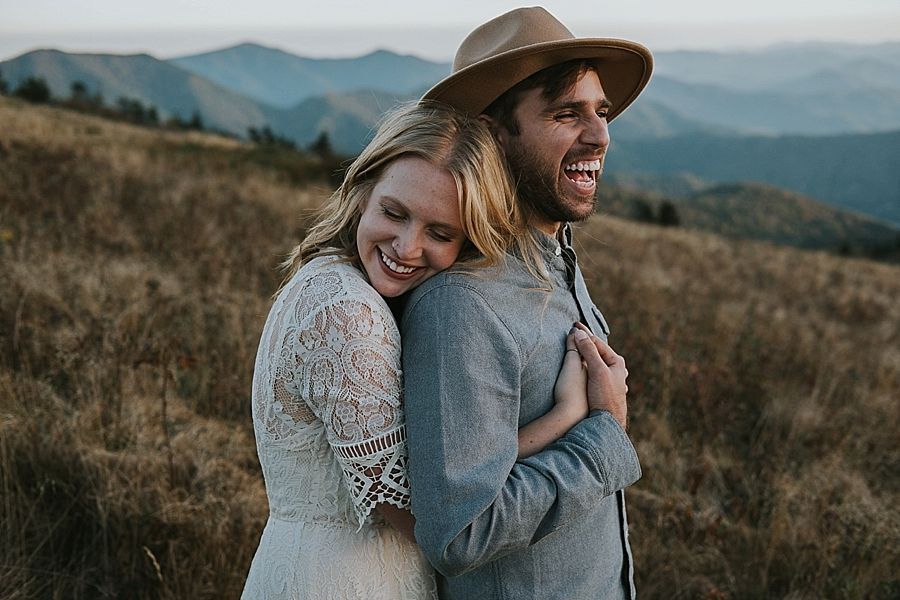 Asheville outdoor mountain wedding venue