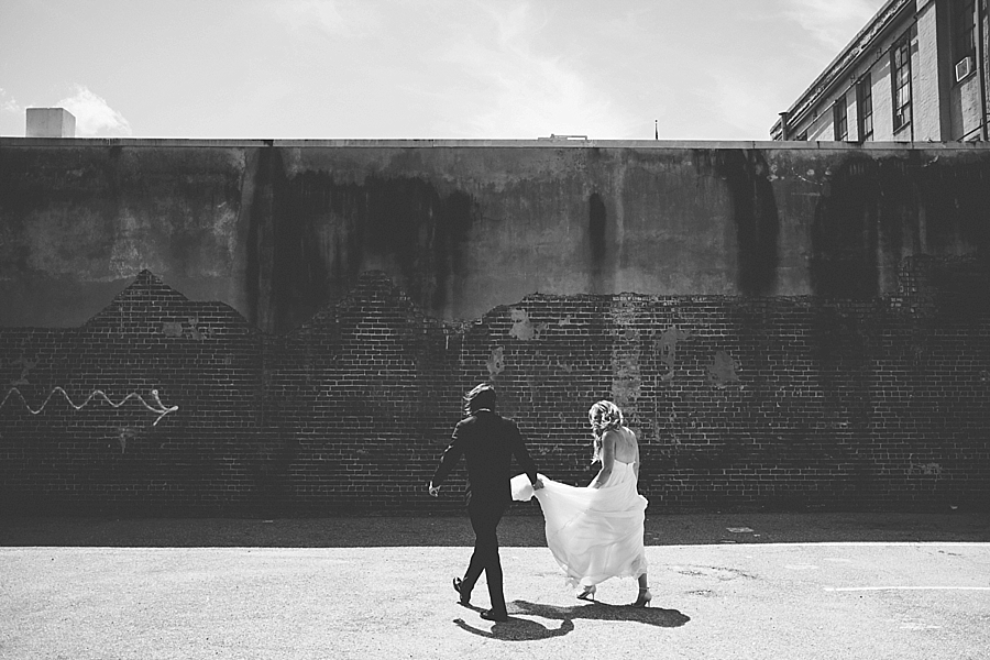 downtown Asheville wedding photography