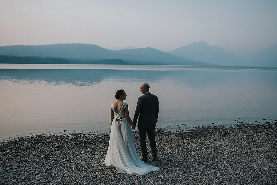 Lake McDonald wedding Glacier National Park