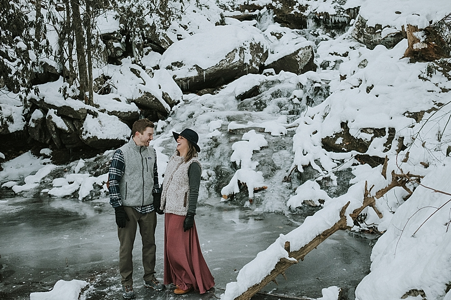 Asheville winter elopement