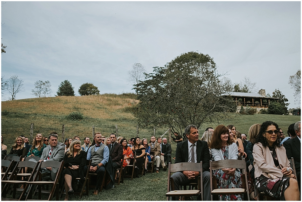 fall wedding in north carolina mountains