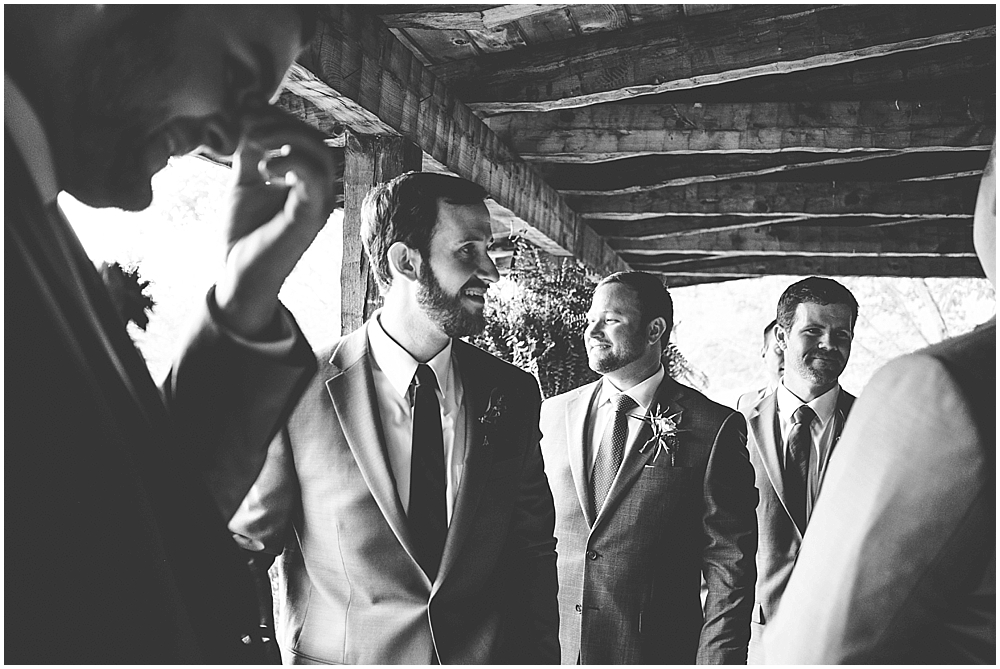 Wedding photography at North Carolina mountain cabin