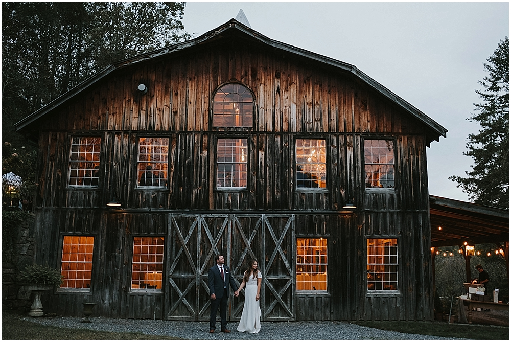 Asheville north carolina mountain rustic barn wedding venue