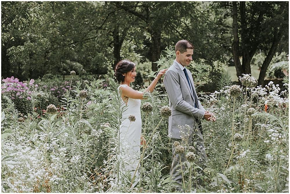 natural outdoor wedding in western north carolina