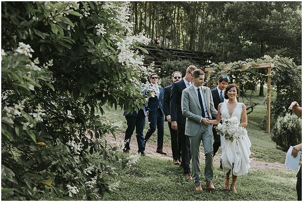 Vineyards at Betty's Creek wedding ceremony