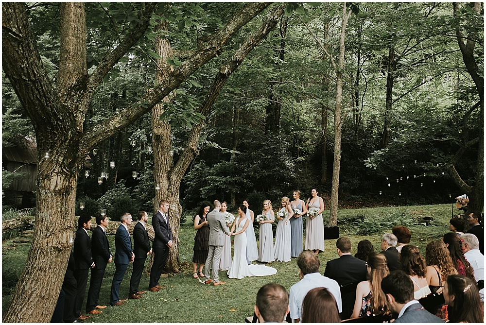 outdoor wedding ceremony North Carolina mountains