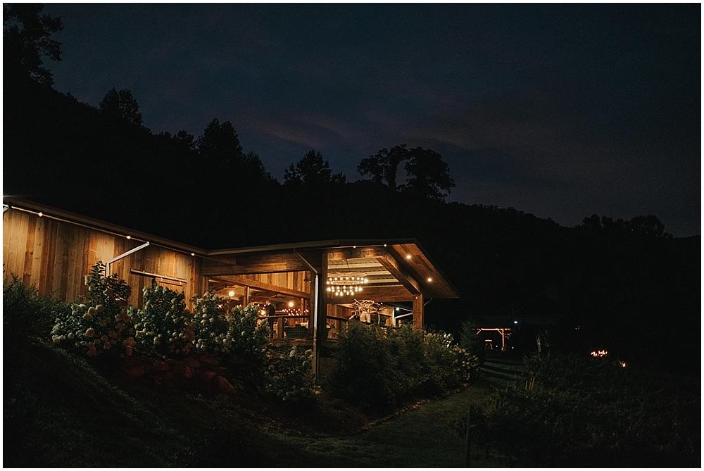 blue ridge mountaintop wedding venue nc
