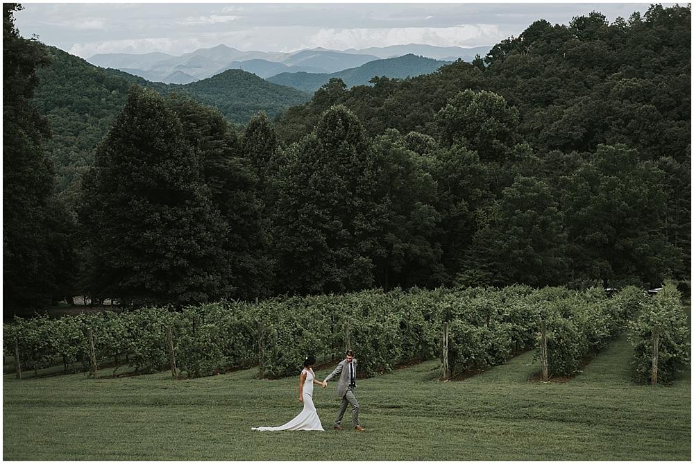 scenic north carolina mountain wedding venue