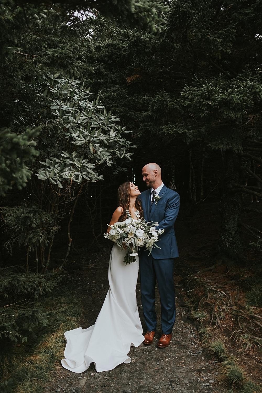 wedding at Roan Mountain