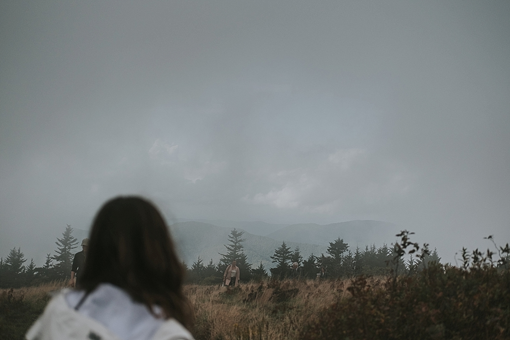 elopement ceremony at Roan Mountain