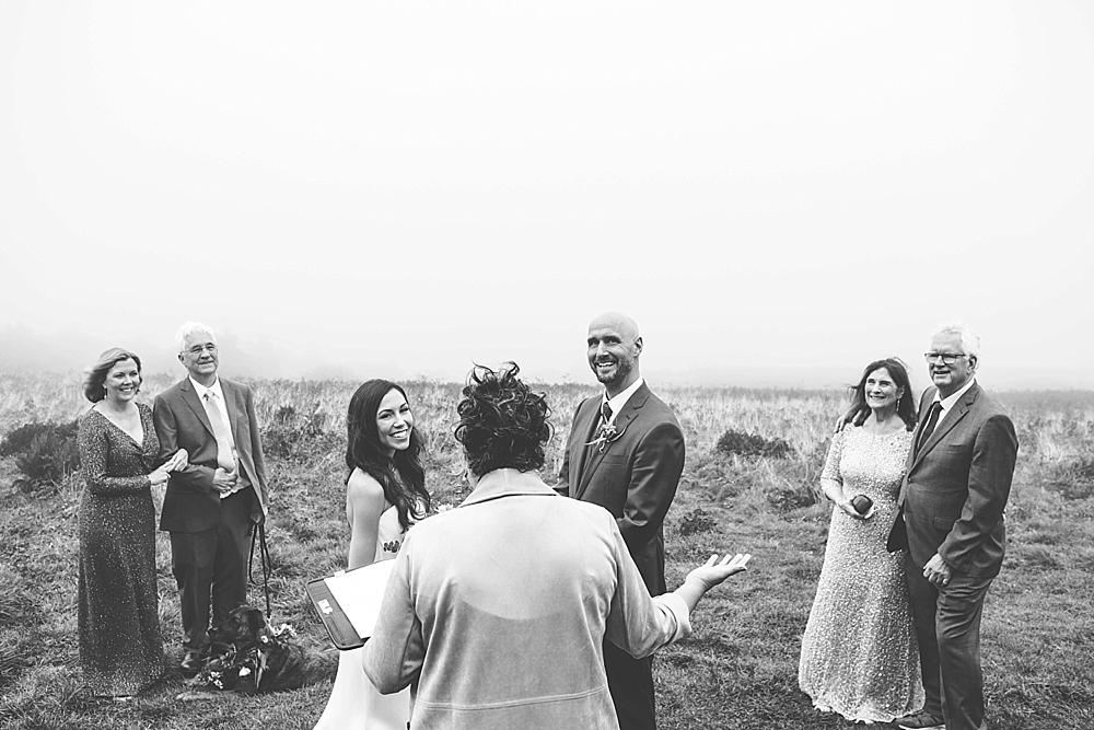 Roan mountain elopement ceremony