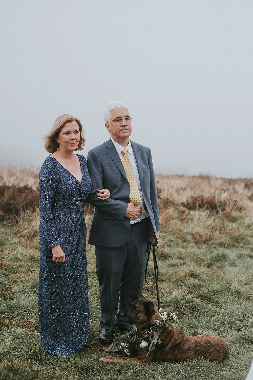 Roan mountain wedding ceremony