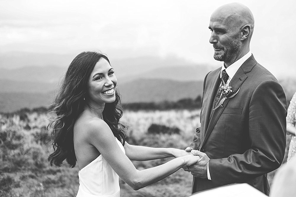 Roan Mountain wedding Elopement